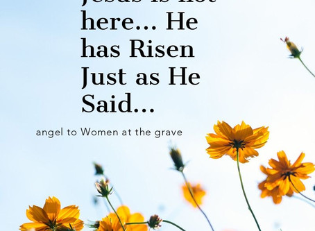 Happy Easter! Why do you seek the living among the dead?