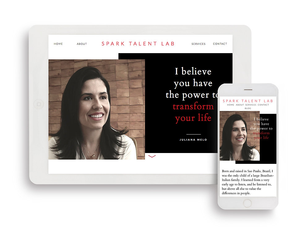 Life & Career Coaching Responsive Website Design, Spark Talent Lab, Ethos By Design