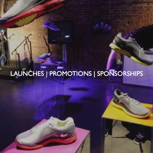 Art direction for launches, promotions and sponsorships.