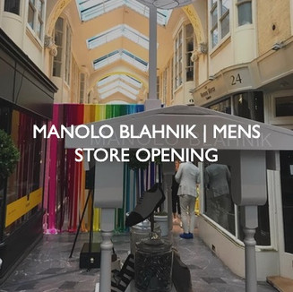 New product launch for Manolo Blahnik Men's Store Opening event.