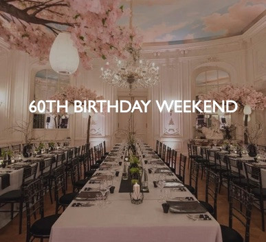 60th Birthday Weekend, styling by Friedrich Events.
