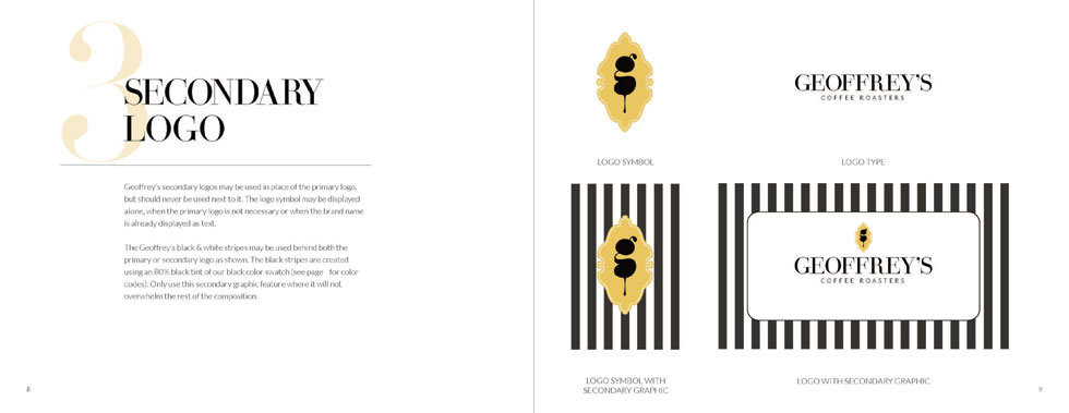 Geoffrey's Coffee Style Guide, Logo Design, Ethos By Design