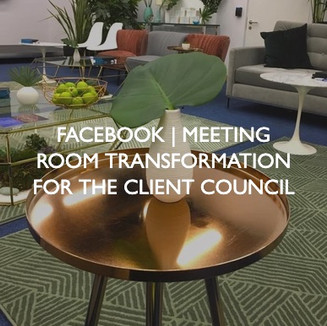 Facebook event, Meeting Room Transformation for the Client Council.