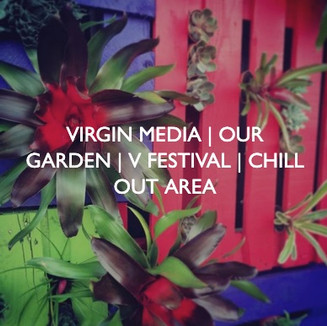 Virgin Media V Festival, Our Garden, designed by Friedrich Events.
