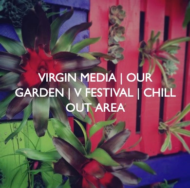 Virgin Media V Festival, Our Garden, designed by Friedrich Events.