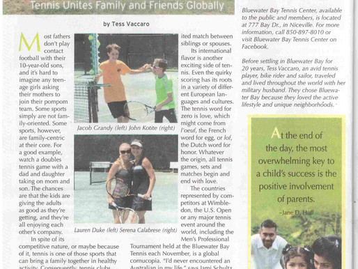 Bluewater Bay Tennis Center Featured in Natural Awakenings Magazine