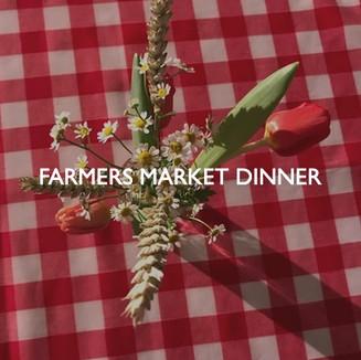 Farmers Market Dinner, styling by Friedrich Events.