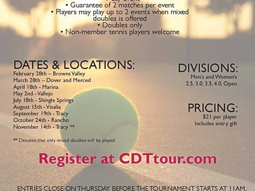 2015 In-Shape Adult Tennis Tournament Series