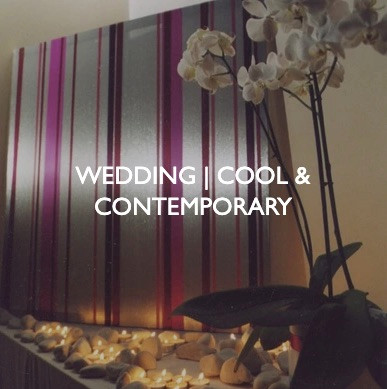 Weddings that are cool and contemporary, styling by Friedrich Events.