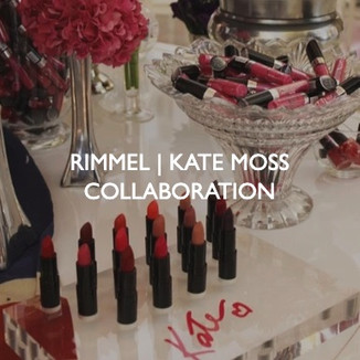 Product marketing for Rimmel, Kate Moss Collaboration event.