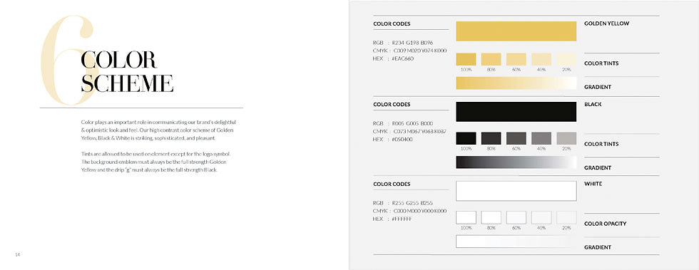 Geoffrey's Coffee Style Guide, Color Scheme, Ethos By Design
