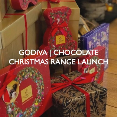 New product launch event for Godiva Chocolate Christmas Range.