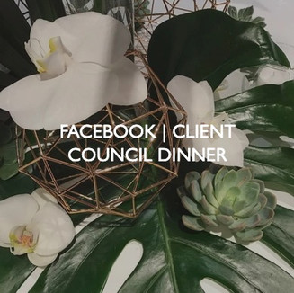 Facebook Client Council Dinner, event dressing by Friedrich Events.