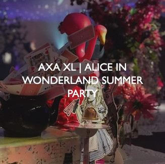AXA XL Alice in Wonderland Summer Party, event dressing by Friedrich Events.