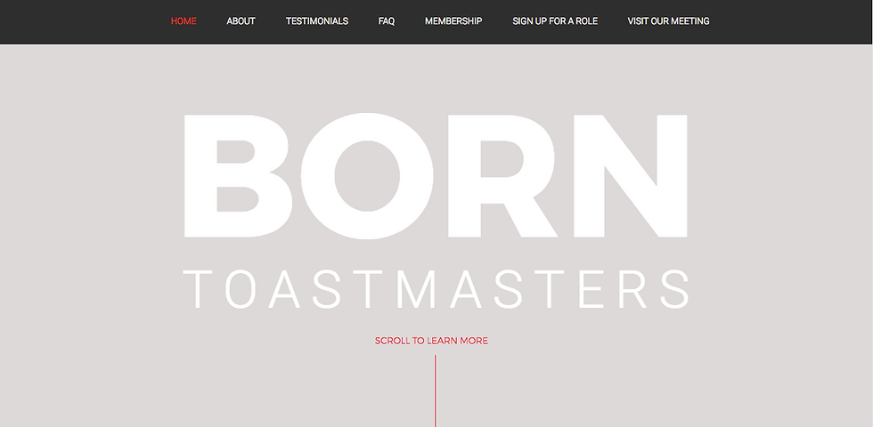 Born Toastmasters Raleigh, NC, Website Design by Ethos by Design