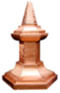 A traditional copper finial