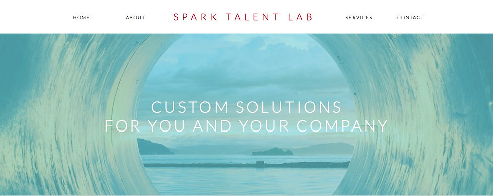 Life & Career Coaching Website Design, Services Page, Spark Talent Lab, Ethos By Design