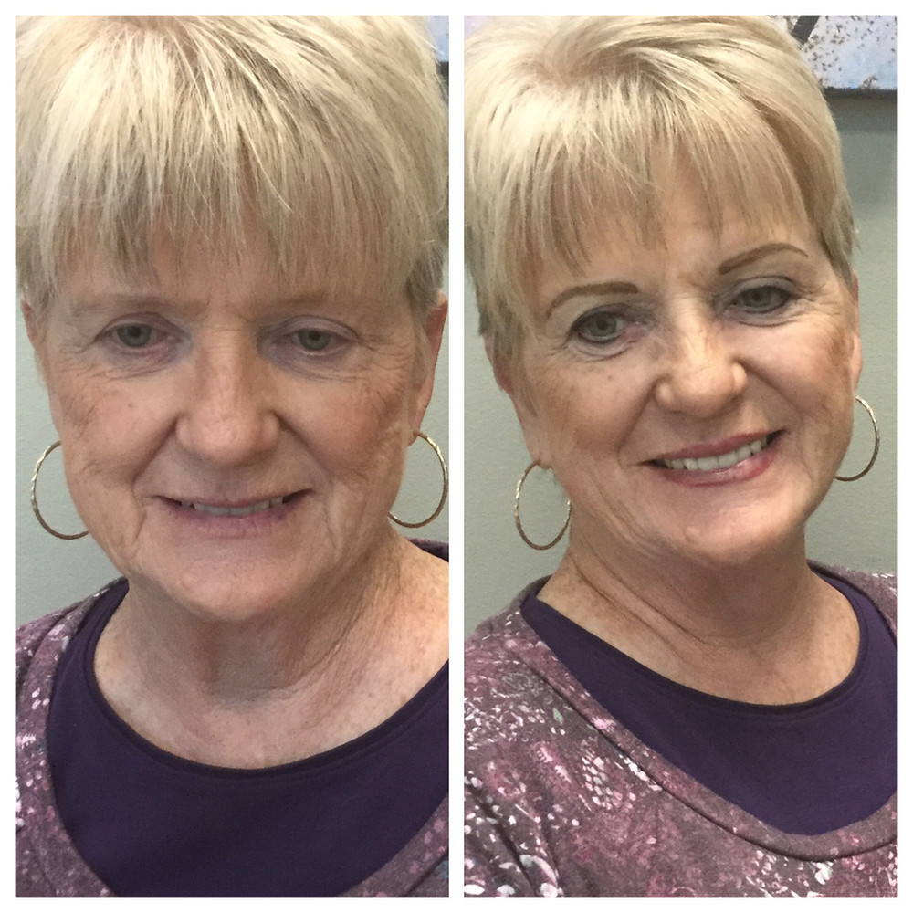 before and after a permanent eyeliner procedure