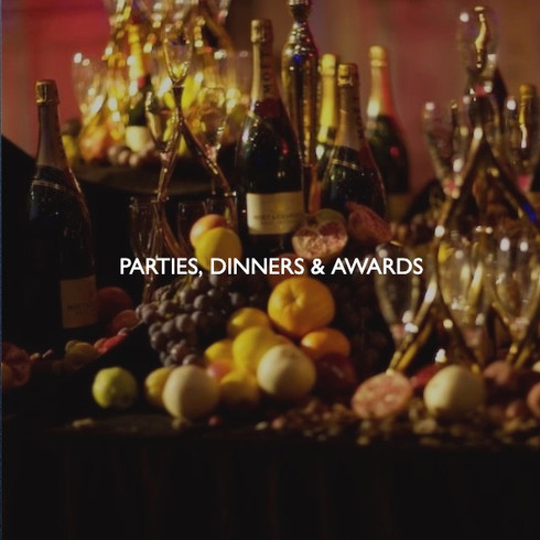 Art direction for corporate parties, christmas parties, dinners, and awards