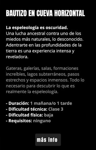 BAUTIZO HORIZONTAL ESPELEO