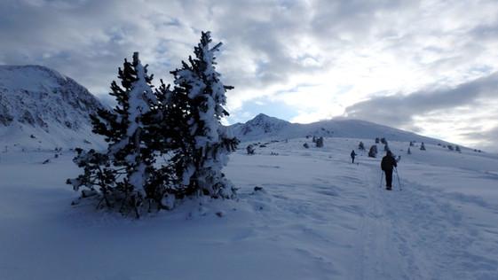 ascensión invernal pic de la mina