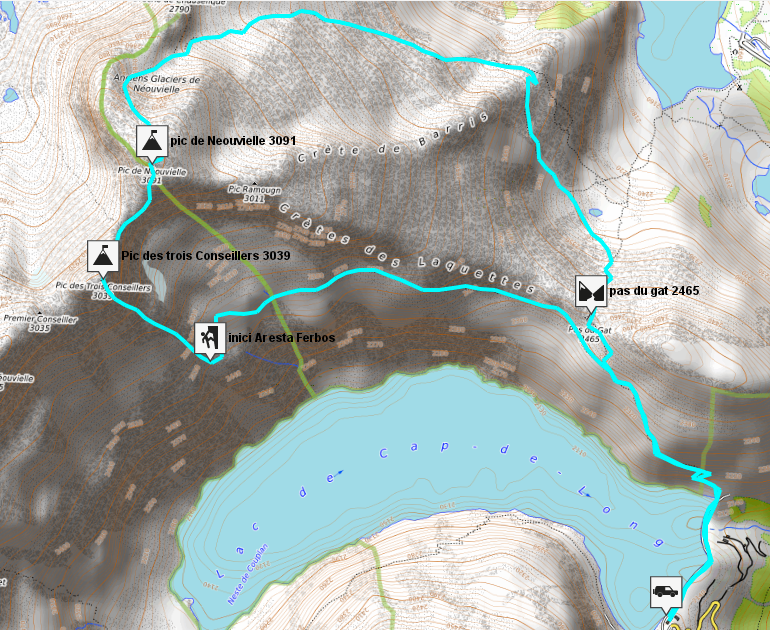 mapa neouvielle pirineos