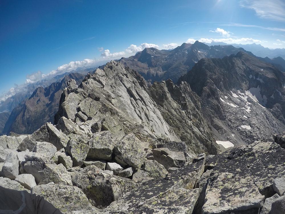 cresta S al Néouvielle pirineos