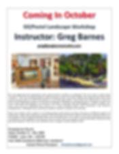 Flyer for Greg Barnes, October 13 - 15,2