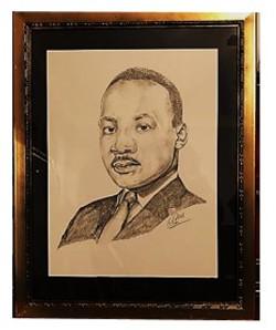 Portrait of ML King, Jr.