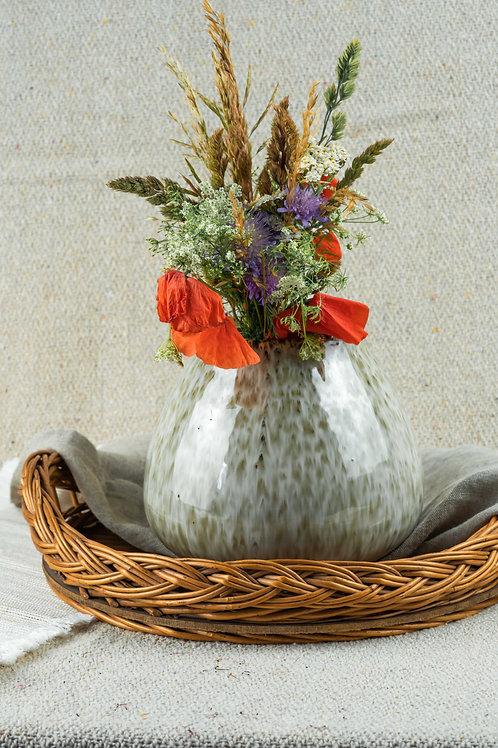 "Vase ""Green"" Steingut"