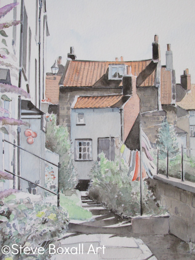 Robin Hood's Bay Cottages, Washing Day