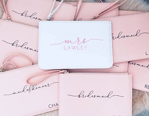 Personalised clutch bag  ★
