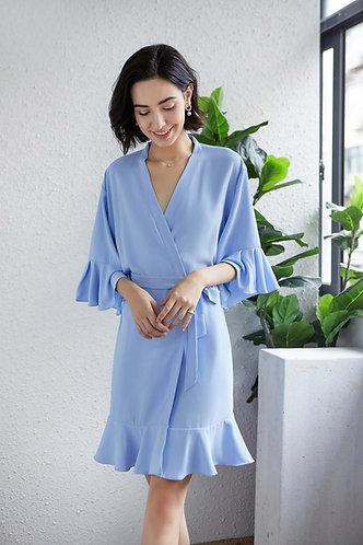 Sky Blue Roxy ruffle robe  personalised ★