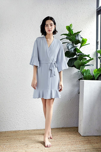 Dusky Blue Roxy ruffle robe personalised ★