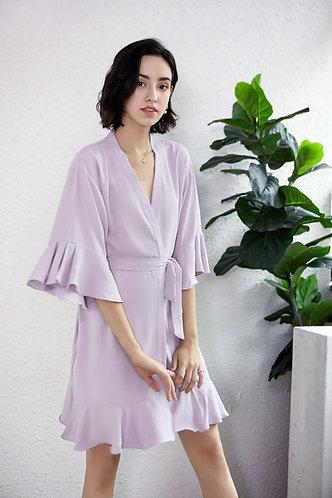 Light Mauve Roxy ruffle robe personalised ★