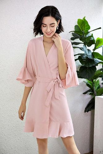 Blush Roxy ruffle robe  personalised ★