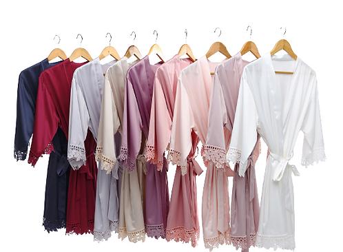 Plain Lola lace sleeve robe ★