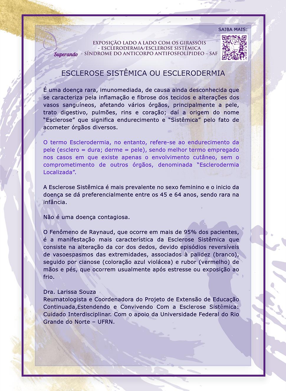 1CARTAZ 03 – ESCLEROSE SISTÊMICA OU ESCL