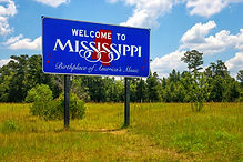 Mississippi welcome sign with the words