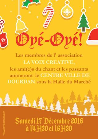 Noël à Dourdan avec La Voix Créative