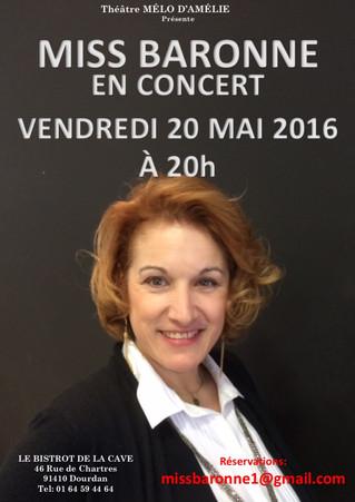 Miss Baronne en concert le 20 mai