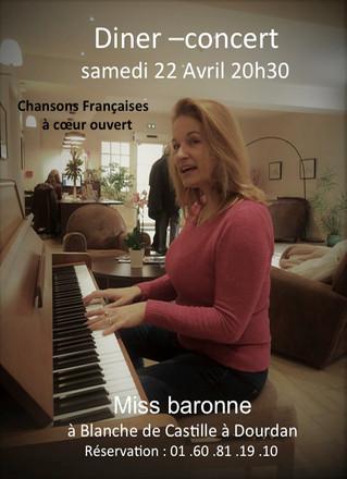 Miss Baronne le 22 avril à Dourdan