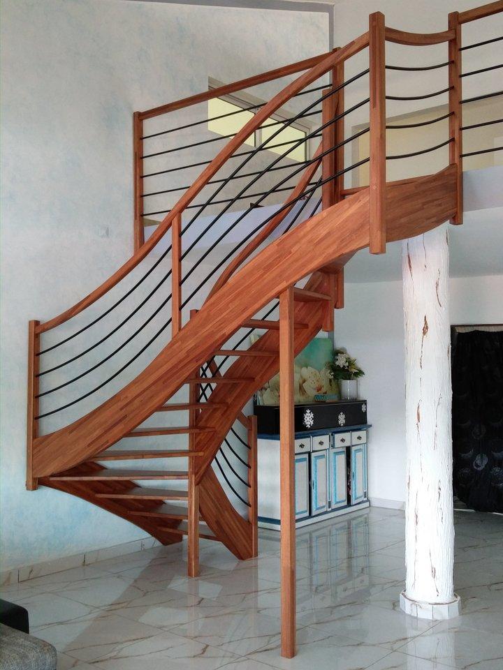 Escalier en Makoré