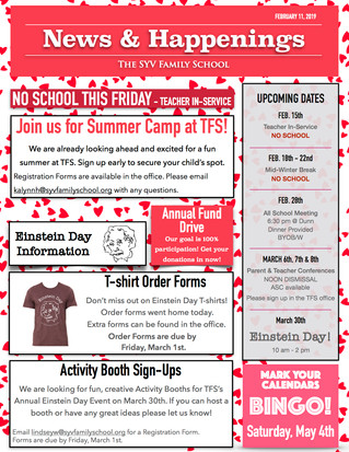 TFS News & Happenings