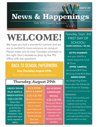 TFS News & Happenings