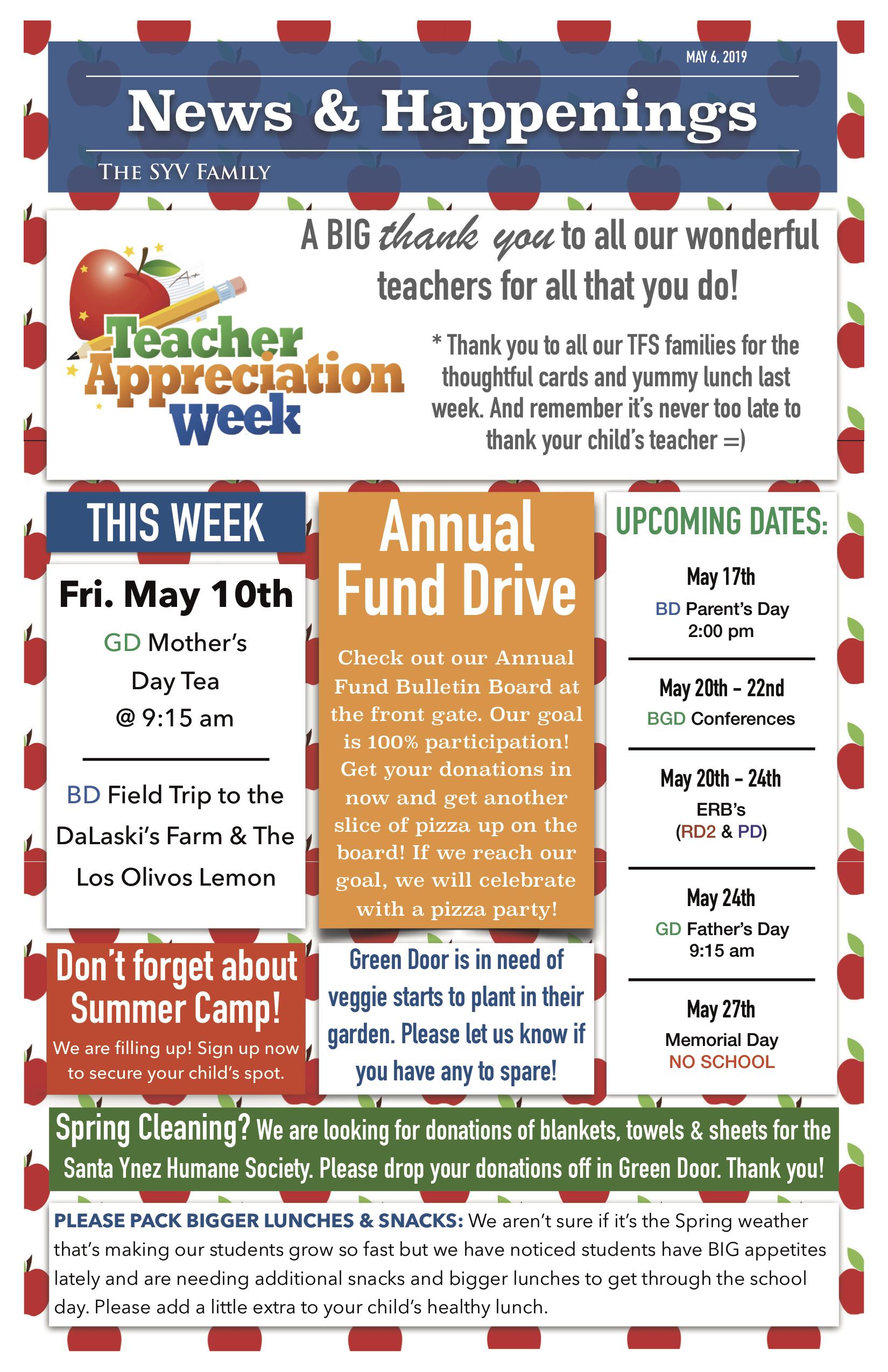 TFS News & Happenings | The Family School