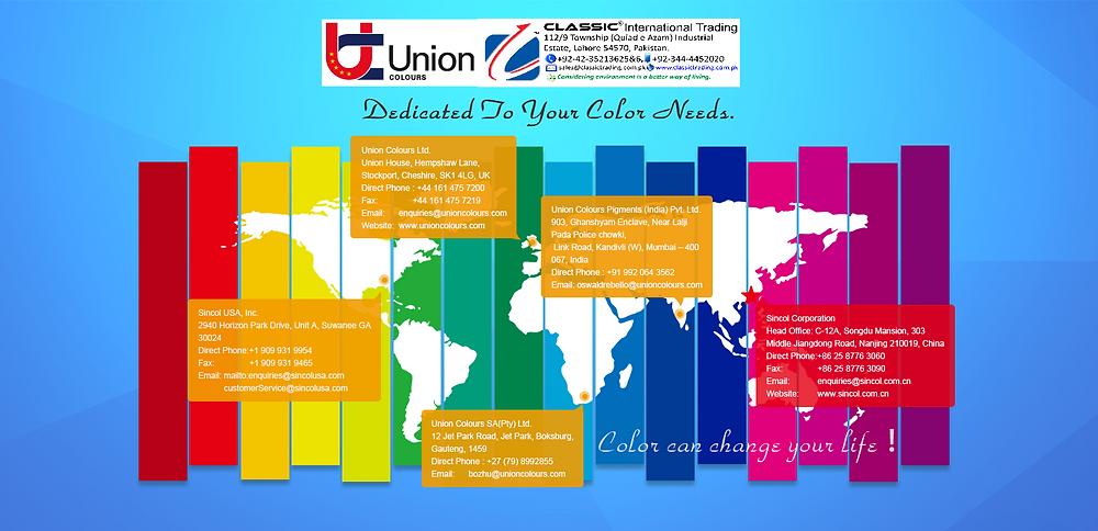 Union Colours Complete Range Available