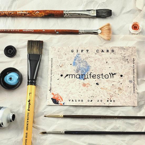 manifesto١٣ gift card