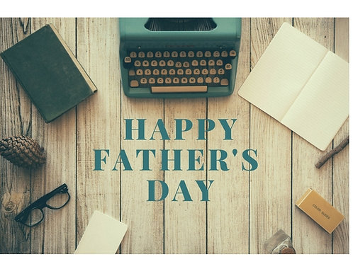 Father's Day Card with Donation Announcement