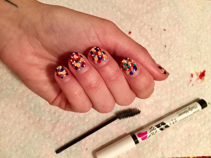 Fashion Week Nails That You Can Easily Do At Home... With A Mascara Brush